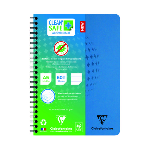 Clean Safe A5 Notebook 120 Pages (Pack of 5) 82566C