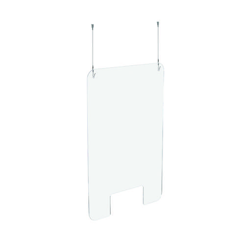 Exacompta Sneeze Guard Suspended With Fixation Kit 95x68cm 80158D