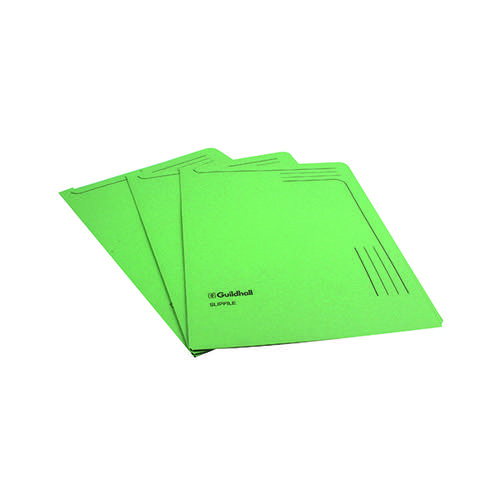 Exacompta Guildhall Slipfile Manilla 230gsm Green (Pack of 50) 4603Z