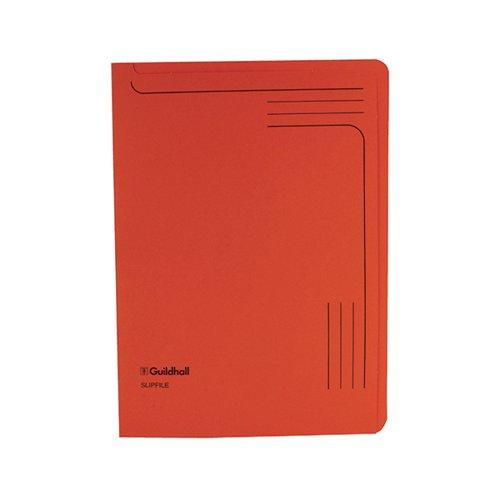 Exacompta Guildhall Slipfile Manilla 230gsm Orange (Pack of 50) 4607Z