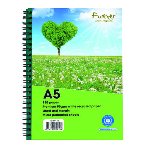 Forever Notebook A5 Green (Pack of 10) 5911Z