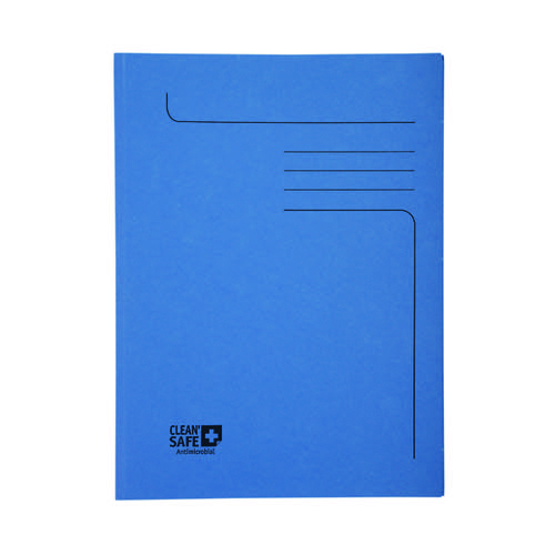 Exacompta Clean Safe 2 Flap Folders A4 (Pack of 5) 33122E