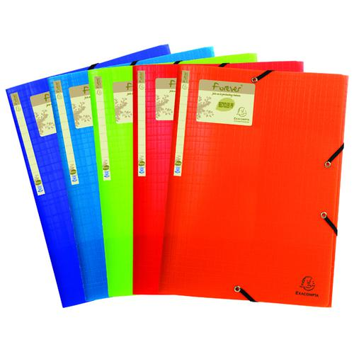 Exacompta Forever Elasticated 3 Flap Folder Assorted (Pack of 15) 551570E