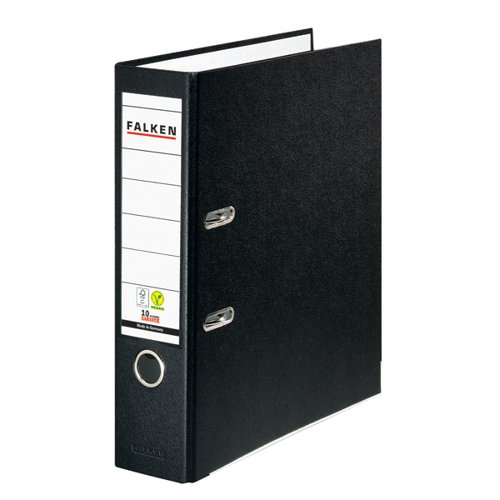 Exacompta Lever Arch File Vegan A4 Black (Pack of 20) 09984089F