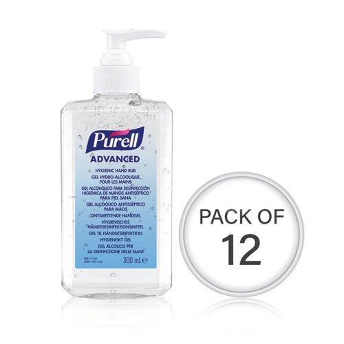 Purell Hand Rub Bottle 300ml (Pack Of 12) 9263-12-EEU00