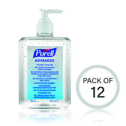 Purell Advanced Hygienic Hand Rub 500ml (Pack Of 12) 9268-12-EEU00