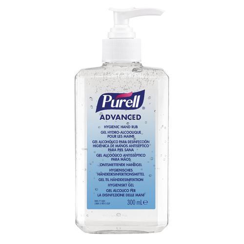 Purell Hand Sanitiser Gel Rub 300ml Large Pump Bottle Antibacterial
