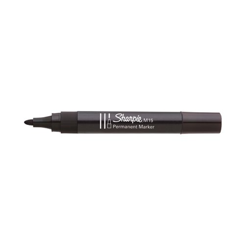Sharpie M15 Permanent Marker Bullet Tip Black (Pack of 12) S0192582