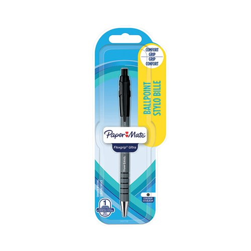 PaperMate Flexgrip Retractable Ball Pen Black (Pack of 12) 2027738