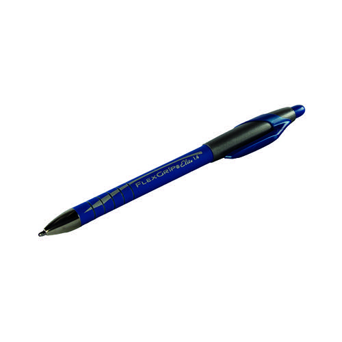 PaperMate Flexgrip Elite Ball Pen Medium Blue (Pack of 12) S0750530