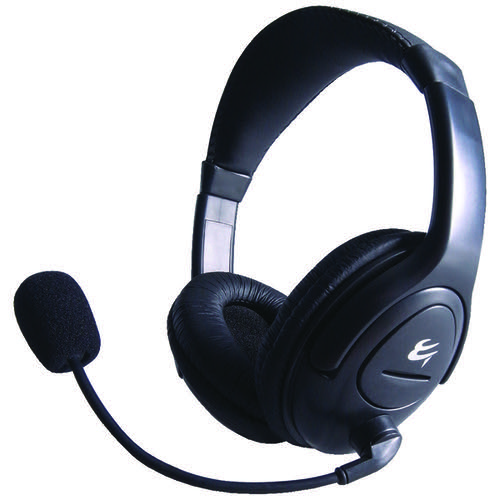 Computer Gear HP 512 Multimedia Stereo Headset With Boom Microphone 24-1512  - Office Monster
