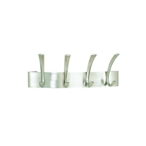 Safco Curve 4 Hook Coat Rack 127x432x152mm Silver 4205SL