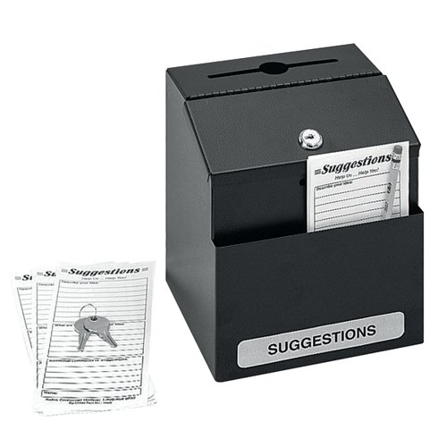 Safco Locking Suggestion Box Black 4232BL