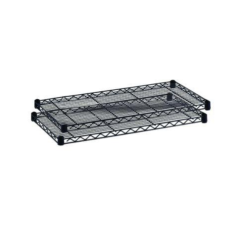 Safco Commercial Extra Shelves 2-Pack 1219x457mm Black 5242BL