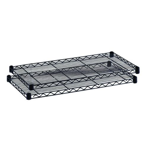 Safco Commercial Extra Shelves 2-Pack 914x457mm Black 5243BL