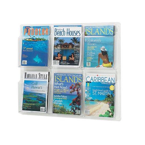 Safco 6 Pocket Deluxe Magazine Presenter A4 5607CL