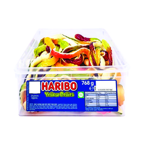 Haribo Giant Yellow Bellies Tub 096444