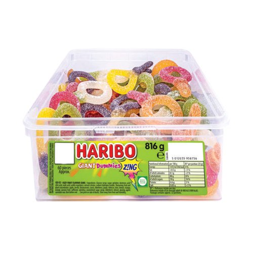 Haribo Giant Dummies Zing Sweets Tub 13444