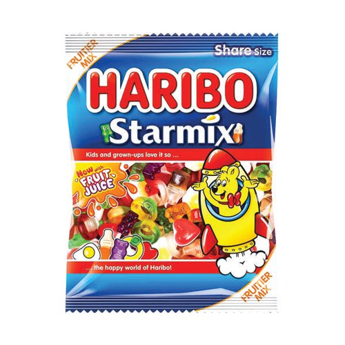 Haribo Starmix Sweets 140g Bag (Pack of 12) 730730