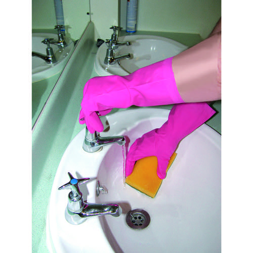 Shield Household Rubber Medium Gloves Pink GR03