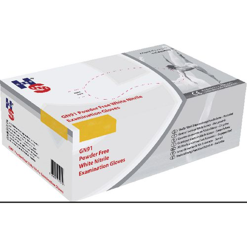 Handsafe Nitrile Powder-Free Glove Medium White (Pack of 2000) HEA01301