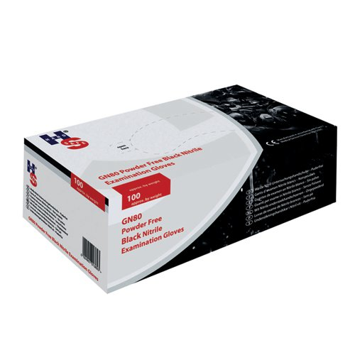 Handsafe Speciality Nitrile Gloves Medium Black (Pack of 100) GL897