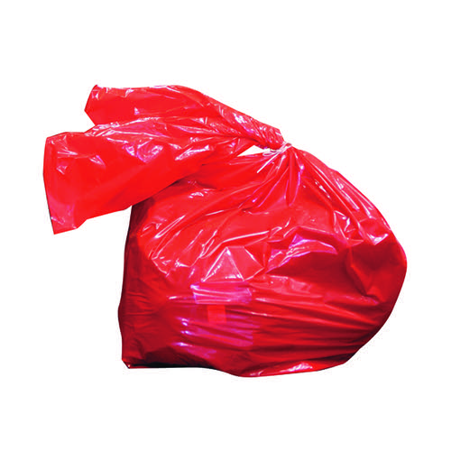 Laundry Soluble Strip Bag 80 Litre Red (Pack of 200) RSB/4