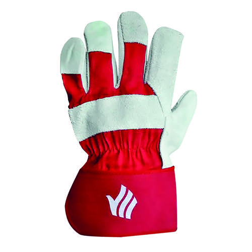 Polyco Premium Rigger Gloves Chrome Selected Leather Red (Pack of 10) LR158R