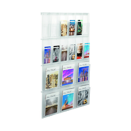 Helit Placativ Wall Display 18 Pockets Clear H6812302