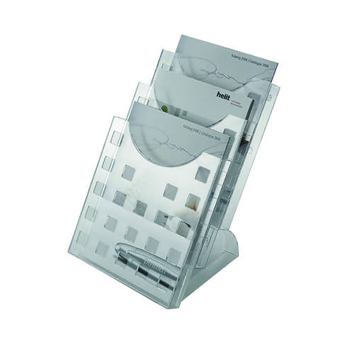 Helit Desktop 3 Pocket Literature Holder A4 H61027