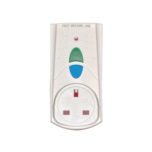 RCD Safety Plug White (Takes 3000 upto Watts and 13 Amps) PB5000
