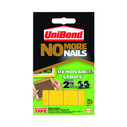 Unibond No More Nails Removable Strips (Pack of 10) 781739