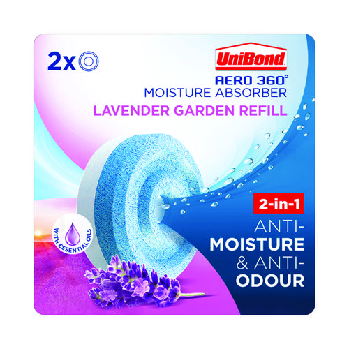 Unibond Aero 360 Lavender Garden Refills (Pack of 2) 2631291