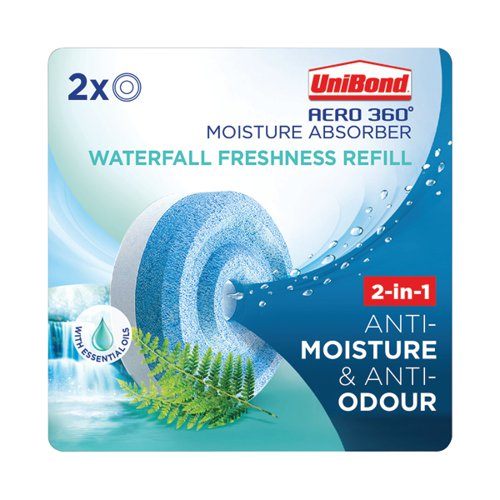 Unibond Aero 360 Waterfall Freshness Refill (Pack of 2) 2631290