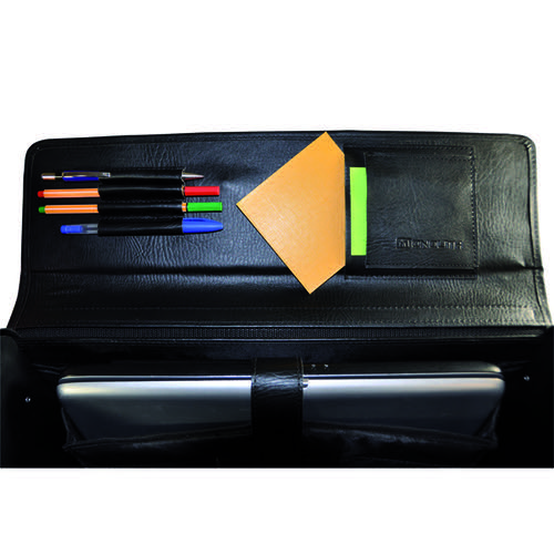 Monolith Executive Leather Look Pilot Case PVC Black 2170
