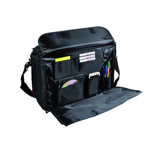 Monolith Polycanvas Pilot Case with Organiser Compartment Black 2168