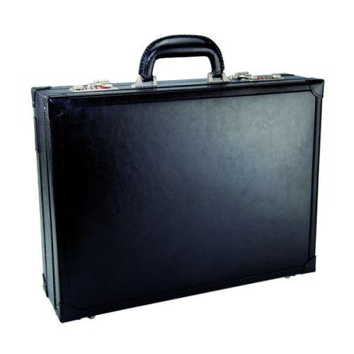 Monolith Black Expandable Leather Attache Case (Single) 2253