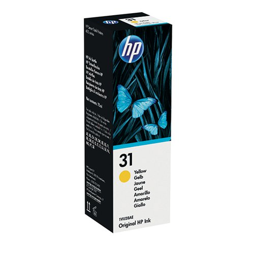 HP 31 70ml Yellow Ink Bottle 1VU28AE