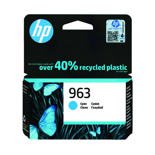 HP 963 Original Ink Cartridge Cyan 3JA23AE