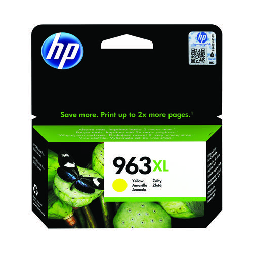 HP 963XL Original Yellow Ink Cartridge High Yield (1,600 page capacity) 3JA29AE