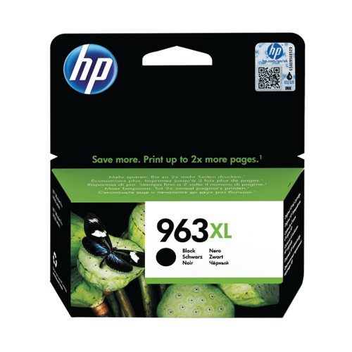 HP 963XL Original Ink Cartridge HY Black (2000 page capacity) 3JA30AE