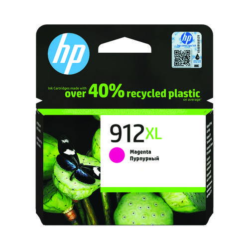 HP 912XL High Yield Ink Cartridge Magenta 9.9ml 3YL82AE