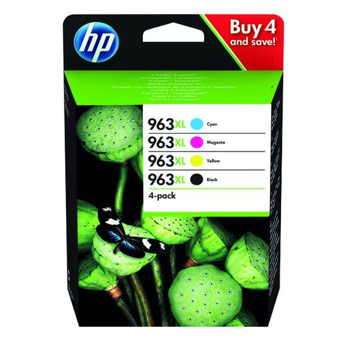 HP 963XL Original Ink Cartridge 4 Pack HY CMYK 3YP35AE