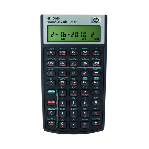 HP 10bii+ Financial Calculator HP-10BIIPLUS/B12