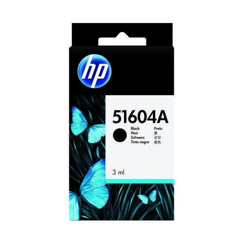 HP Black Inkjet Cartridge (3ml 750000 Characters Yield) 51604A