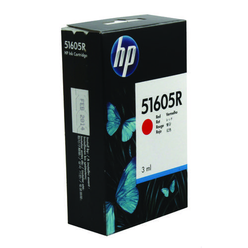 HP Red JetPaper Inkjet Print Cartridge 51605R