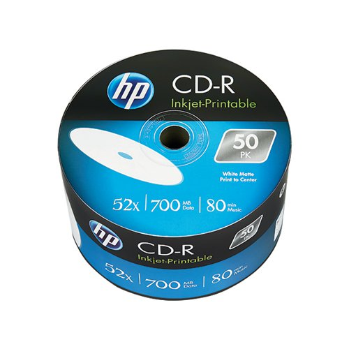 HP CD-R Inkjet Print 52X 700MB Wrap (Pack of 50) 69301