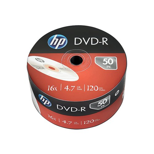 HP DVD-R 16X 4.7GB Wrap (Pack of 50) 69303