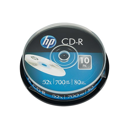 HP CD-R 52X 700MB Spindle (Pack of 10) 69308