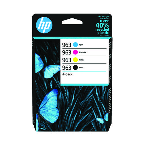 HP 963 CMYK Original Ink Cartridge (Pack of 4) 6ZC70AE